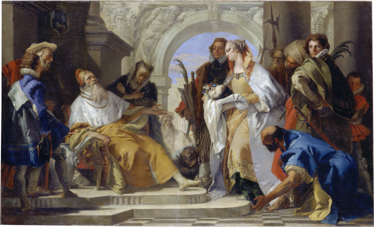 Giovanni Battista Tiepolo, Die Heiligen der Familie Crotta, ca. 1750, Städel Museum (CC BY-SA 4.0 Städel Museum, Frankfurt am Main, https://creativecommons.org/licenses/by-sa/4.0/deed.de)