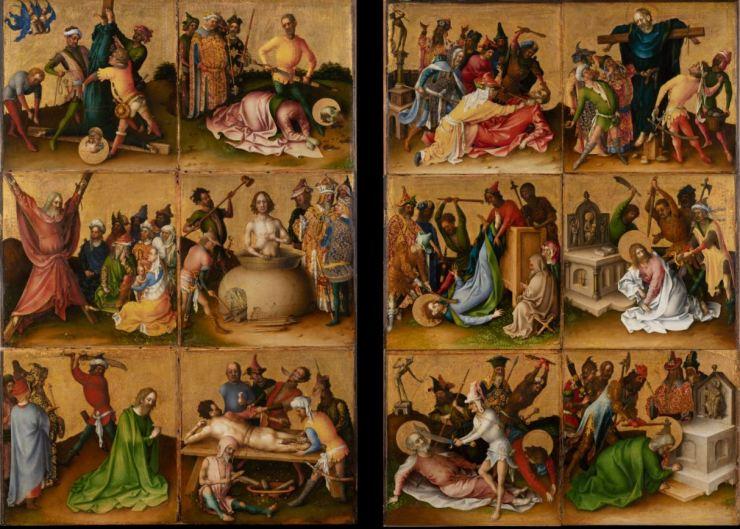 Stefan Lochner, Die Apostelmartyrien, nach 1435, Städel Museum (CC BY-SA 4.0 Städel Museum, Frankfurt am Main, https://creativecommons.org/licenses/by-sa/4.0/deed.de)
